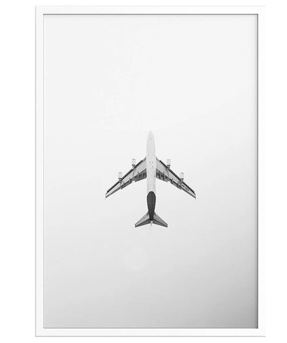 graphic regarding Printable Airplane Pictures titled Jet Preset PRINTABLE Plane Poster Black and white plane pictures Poster minimum amount wall artwork Gentleman Cave Reward concept Poster Print