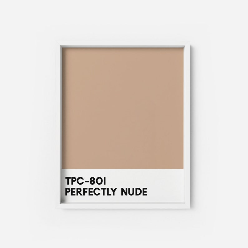 low priced b79a0 0a408 Perfectly Nude ART PRINT | Beige colour chip Poster | Neutral Color chips  wall art | Modern Art Print | Color Poster orange wall art