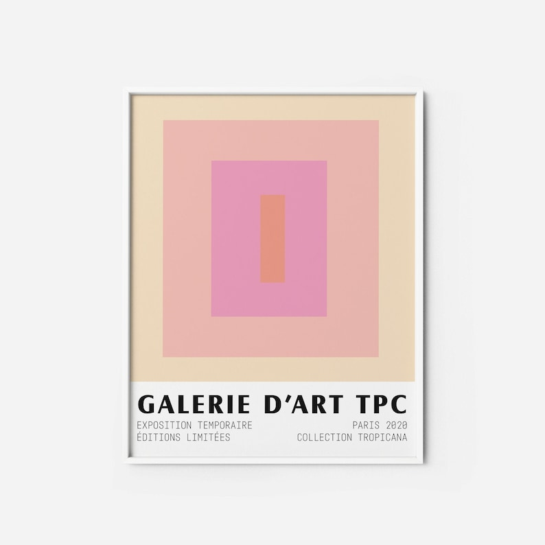 Color Block 4 Art Print  Pastel Museum poster abstract image 1