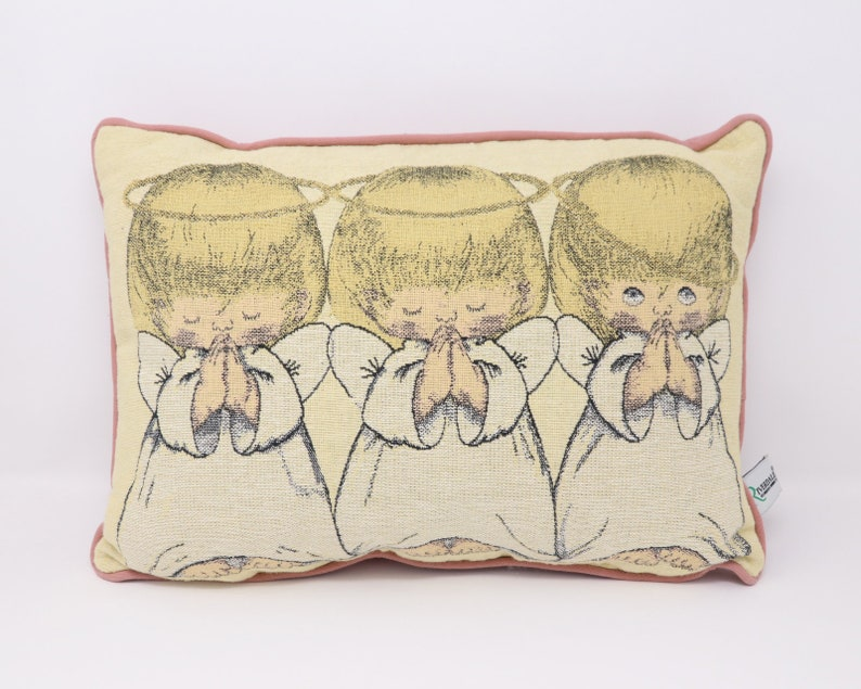 Vintage Pillow With 3 Angels Nice And Clean Mint Condition Etsy