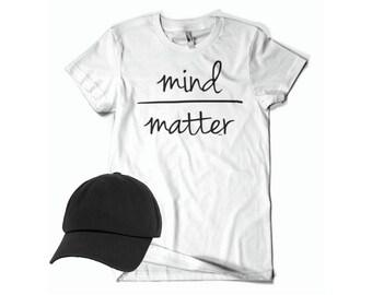 1060588b4113c1 mind over matter t- shirt & dad hat bundle