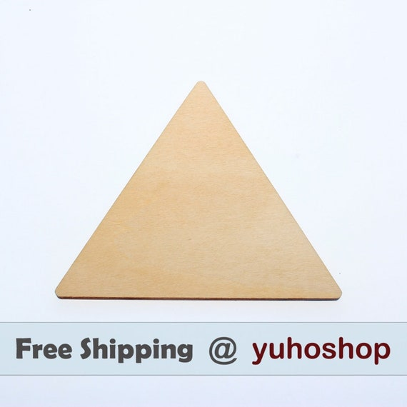 """wide 1//8/"""" inch WOODEN TRIANGLE CRAFT EMBELLISHMENTS DECOR TAG SCRAPBOOK 1/""""-5/"""""""