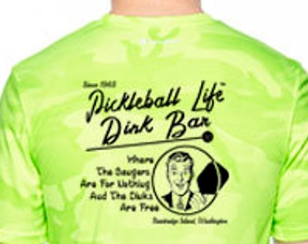 6a03c867b Pickleball Life Dink Bar Vintage Tee, Unisex performance Quick-dry T-Shirt  printed front and back