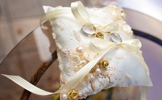 Wedding Ring Bearer Pillow Wedding Ceremony Rings Holder Etsy