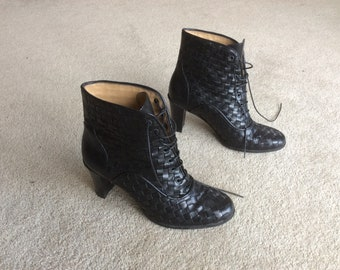 Ladies, Corso Roma, Black Leather Ankle Boots, EUR 36