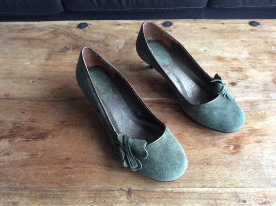 Vintage Bershka Ladies Green Suede
