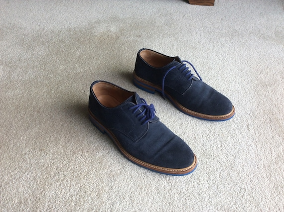 Mens Russell \u0026 Bromley Blue Suede Lace