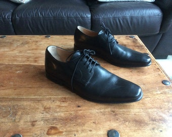 Men's, Marks & Spencer, Collezione, Black Leather Shoes, Size 8