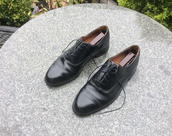 Men's, Bostonian, Black Leather, Oxford, Brogue, Shoes, UK Size 8, US Size 9M