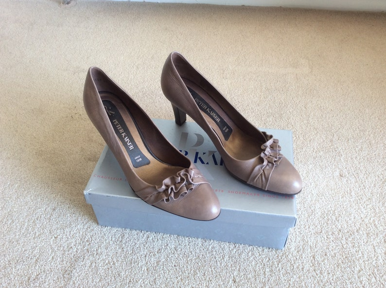 info for 1e24b 20739 Women's, Peter Kaiser, Taupe Leather, Court Shoes, Size: U.K. 7 / EUR. 41 /  US 9.5