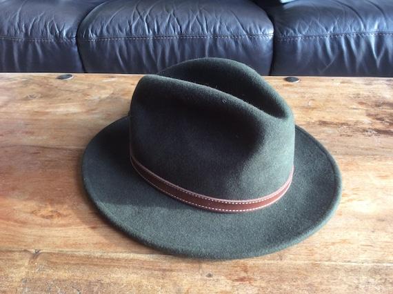 43995e7318 Failsworth Adventurer Olive Green 100% Wool Hat Size