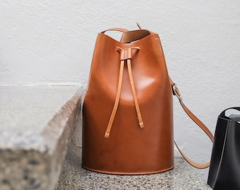 Leather bucket bag⎪Leather bag⎪Handmade bags⎪Bucket bag⎪Leather bag⎪Bucket bag leather