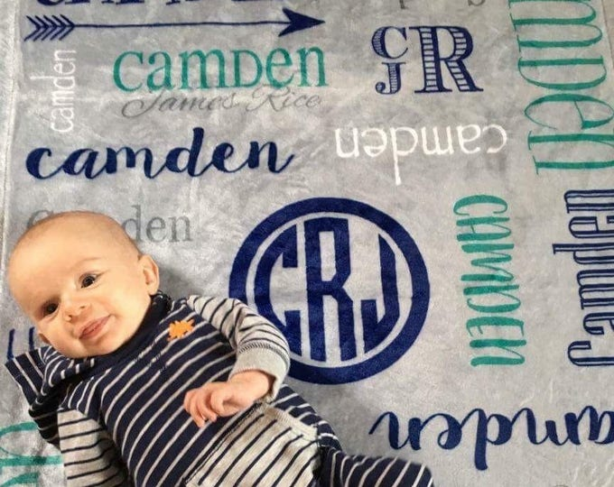 Personalized Baby Blanket, Tribal Arrow, Name Baby Blanket, Baby Boy, Baby Girl Blanket, Receiving Blanket, Baby Shower