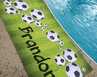 Soccer Ball Beach Towel