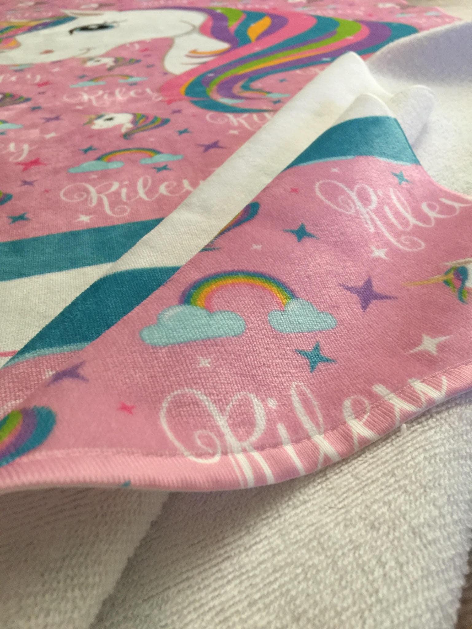 Personalized Unicorn Beach Towel Monogram Towel Camp