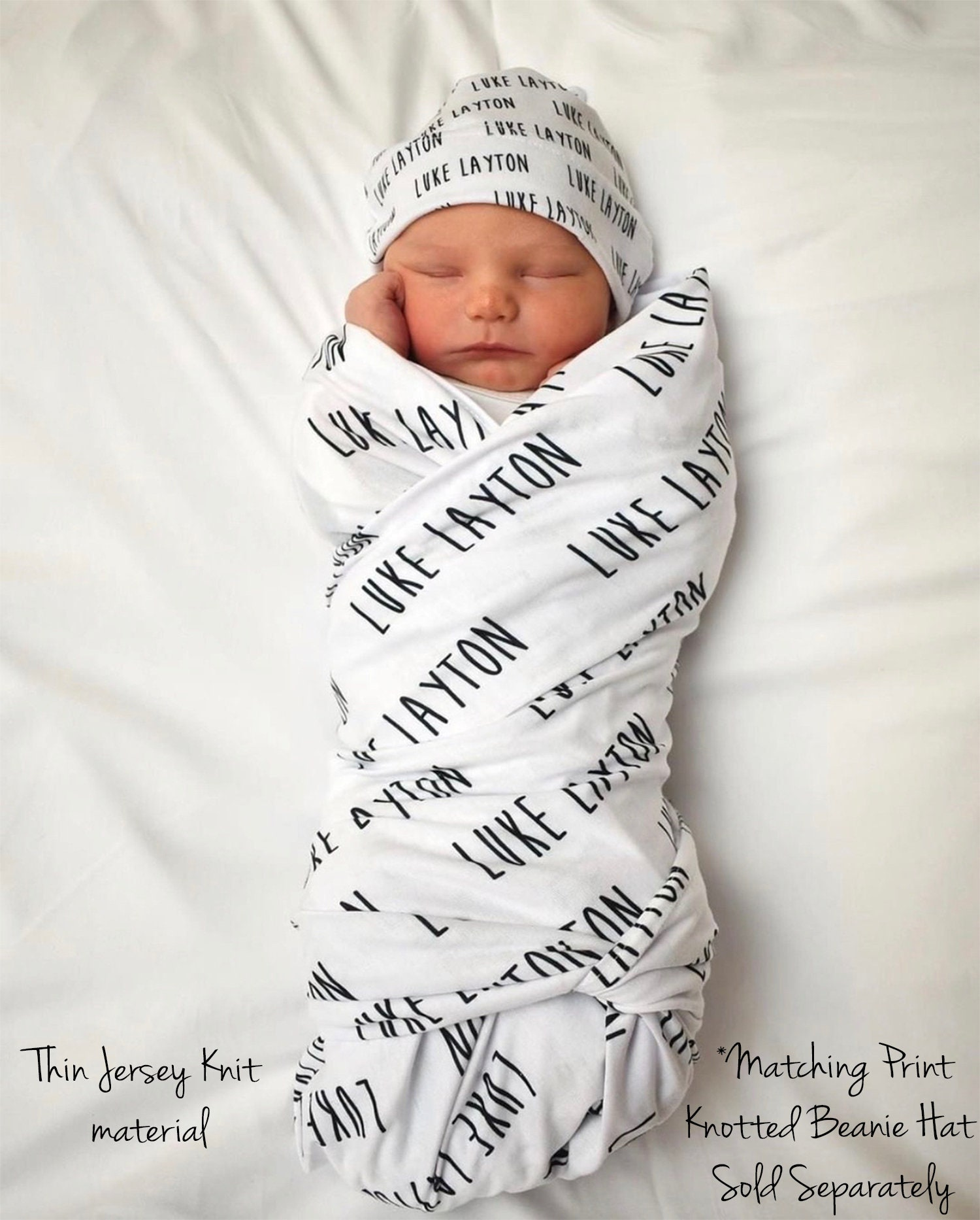 Personalized Baby Blanket, Baby Name Swaddle Blanket ...