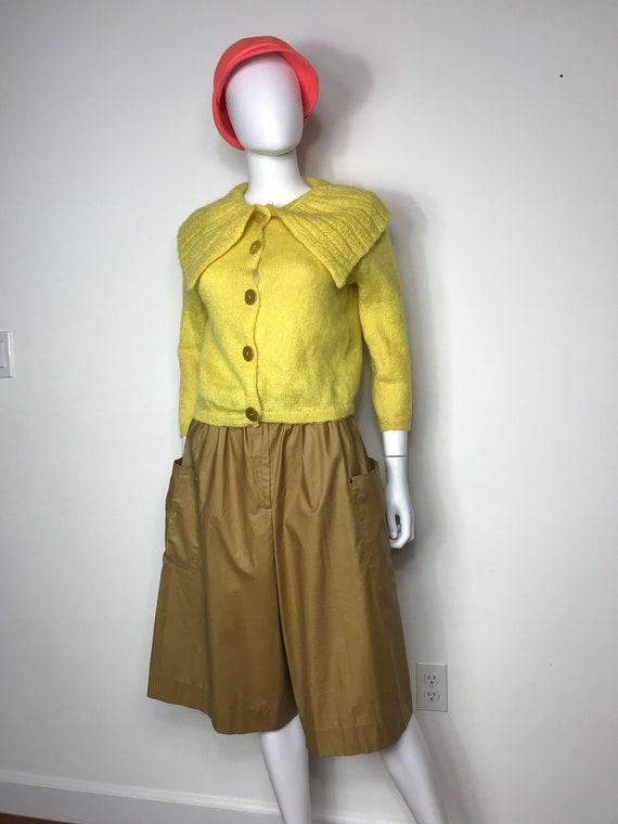 Vtg 60s Jane Irwill Peter Pan collar cardigan swea
