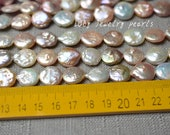 DIY 13-14mm wholesale color coin pearl necklace,loose pearl jewelry necklace,freshwater pearl necklace 28pcs wedding Full Strand LY3120