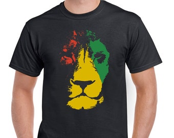 Jamaican Lion Mens Bob Marley Influenced T-Shirt 2280