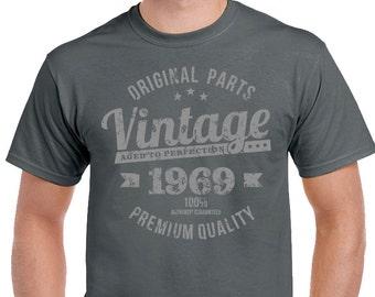 Vintage Year 1969 Premium Quality Mens 50th Birthday T Shirt 99DVIN69