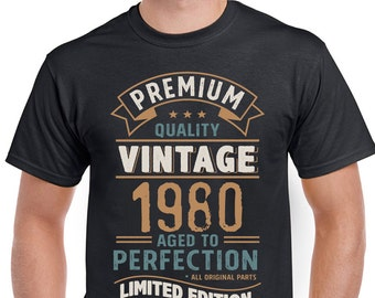 Vintage Year 1980 Limited Edition 38th Birthday Mens Funny T-Shirt 38 Year Old 3CV80