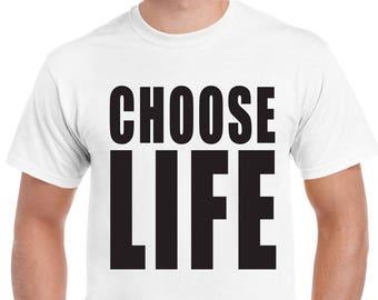 Choose Life Mens Funny T-Shirt Wham George Michael Fancy Dress 603