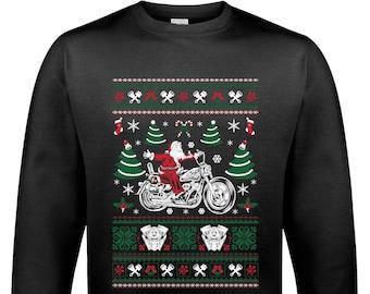 0ca44da68 Biker Santa D1 - Mens Funny Christmas Jumper Indian Motorcycles Motorbike  Sweatshirt 1619