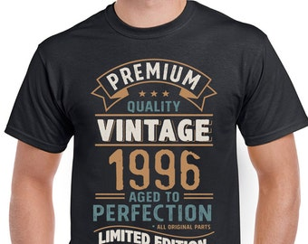 Vintage Year 1996 Limited Edition 22nd Birthday Mens Funny T-Shirt 22 Year Old