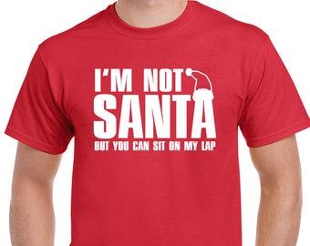 Cycling Santa Mens Funny Christmas T-Shirt Cyclist Bike MTB Road Racer Secret D2