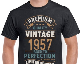 Vintage Year 1957 Limited Edition 61st Birthday Mens Funny T-Shirt 61 Year Old 3CV57