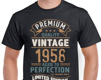 Vintage Year 1958 Limited Edition 60th Birthday Mens Funny T-Shirt 60 Year Old 3CV58