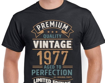 Vintage Year 1977 Limited Edition 41st Birthday Mens Funny T-Shirt 41 Year Old 3CV77