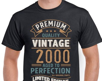 Vintage Year 2000 - Limited Edition 18th Birthday Mens Funny T-Shirt 18 Year Old 3CV00