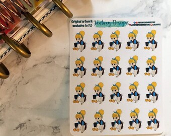 Cinderella cleaning functional planner stickers for erin condren, happy planner,