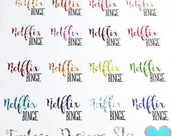 Netflix Planner Stickers | Erin Condren, Happy Planner, Kikki K, Filofax