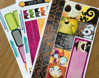 Nightmare before Christmas weekly Sticker Kit mini happy planner, also suitable for Personal Planners
