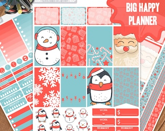 Christmas Planner Stickers Printable, Big Happy Planner Stickers, Weekly Planner Kit, Planner Stickers, Big MAMBI Planner Stickers, Planner