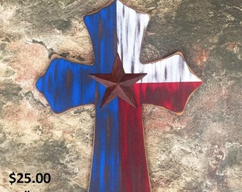 Rustic Texas Cross