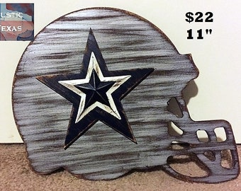 Artículos similares a Tamaño de Dallas Cowboys casco Crochet ... ae60ba03850