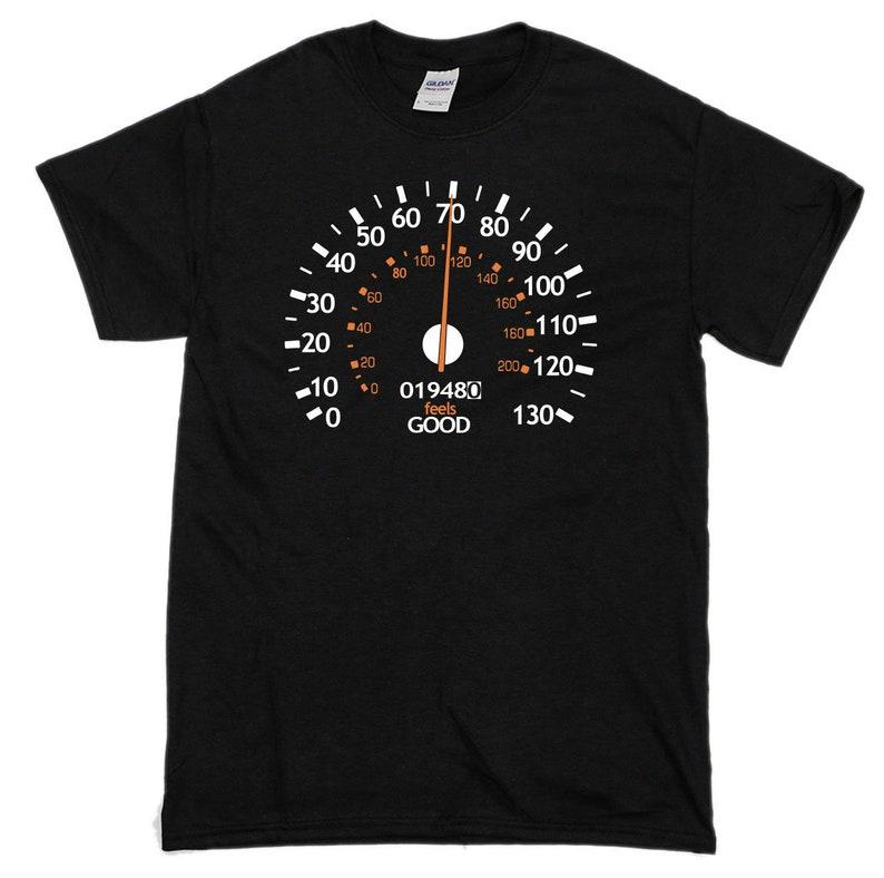 70th Birthday T Shirt Speedometer Mens Comedy Shirts