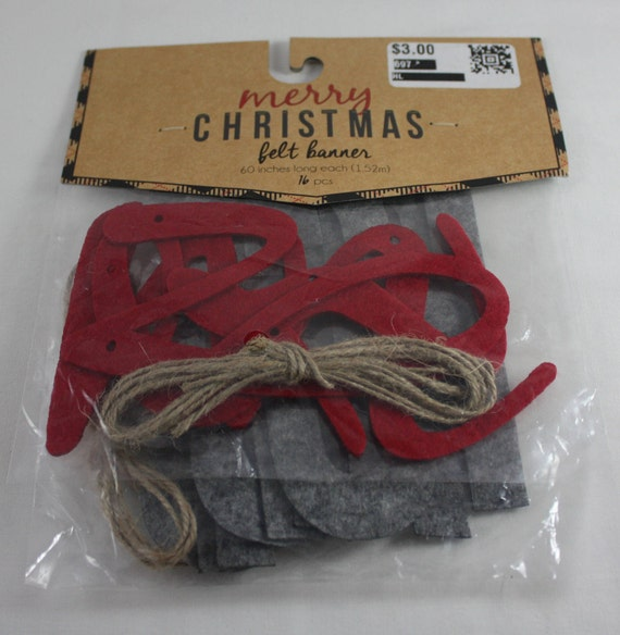 Christmas banner kit merry christmas felt twine 16 pieces or diy christmas banner kit merry christmas felt twine 16 pieces or diy burlap tie banner kit 25 pieces target dollar spot holiday do it yourself from solutioingenieria Choice Image