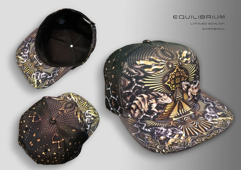 65122742122cb Dragons snapback limited edition psychedelic festival cap