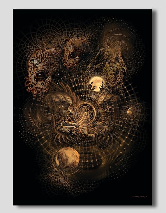 Tapestry Basic Vibration By Luminokaya Psy Etsy