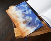 Altuzarra x Etsy A5 Lined Limited Edition Notebook Hand Covered in a Striking Blue Silk Tie Dye Fabric