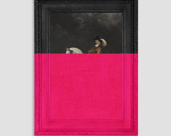 Unusual and Unique Canvas Art - Quirky Wall Art - Large Canvas Artwork - Pink Wall Art - Pink Wall Hanging Ideas