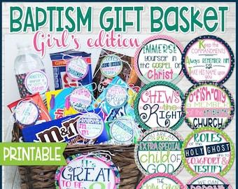 Baptism gift basket - Girls edition, Baptism gifts, Baptism Favors