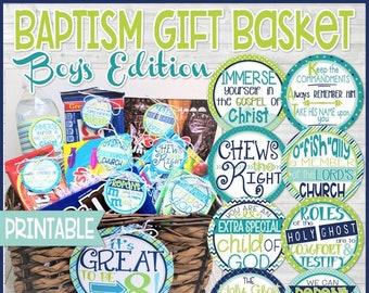 Baptism gift basket - Boys edition, Baptism gifts, Baptism Favors
