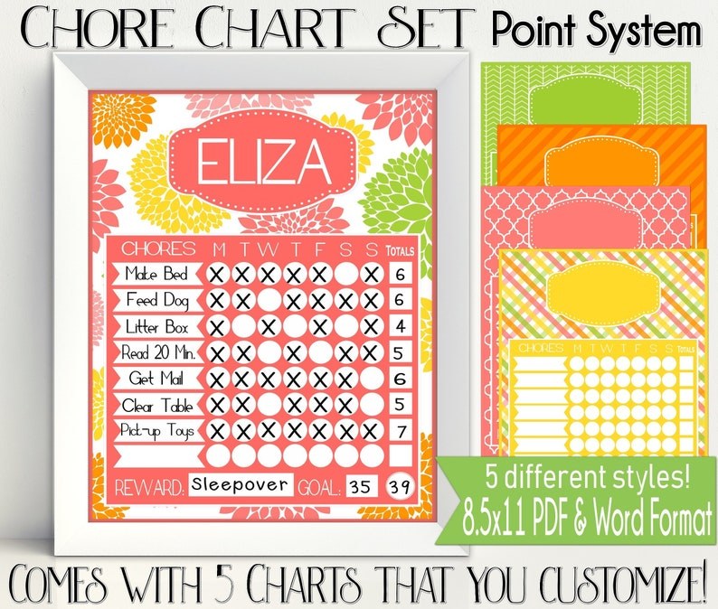picture regarding Printable Chore Charts Pdf known as Fact Procedure Chore Chart Printable - Citrus Shades