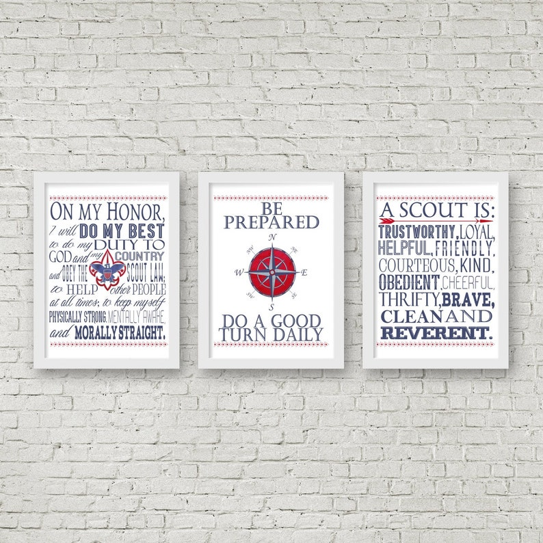 graphic about Boy Scout Oath and Law Printable named Eagle Scout Electronic Printable Artwork, Boy Scout Oath, Legislation, Motto, Slogan Electronic Prints, Eagle Scout Decor, Eagle Scout Reward