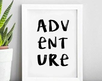 Adventure Travel Quote | Typography Print